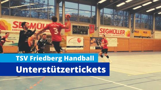 Der TSV Friedberg Team Handball verkauft Unterstützertickets für Geisterspiele mit Snapticket