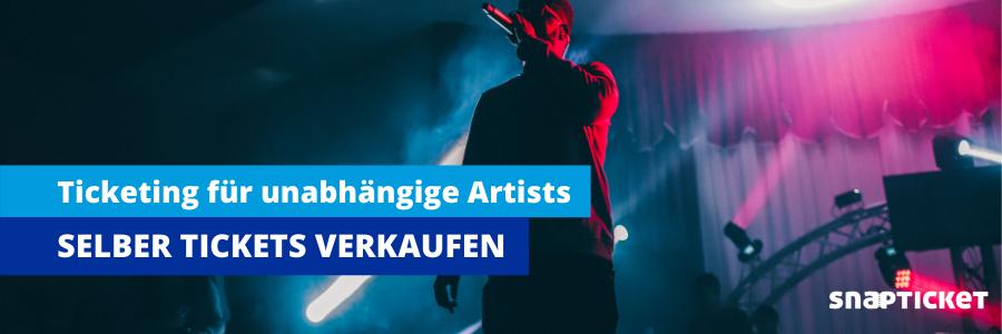 Eigener Online-Ticketshop für Artists